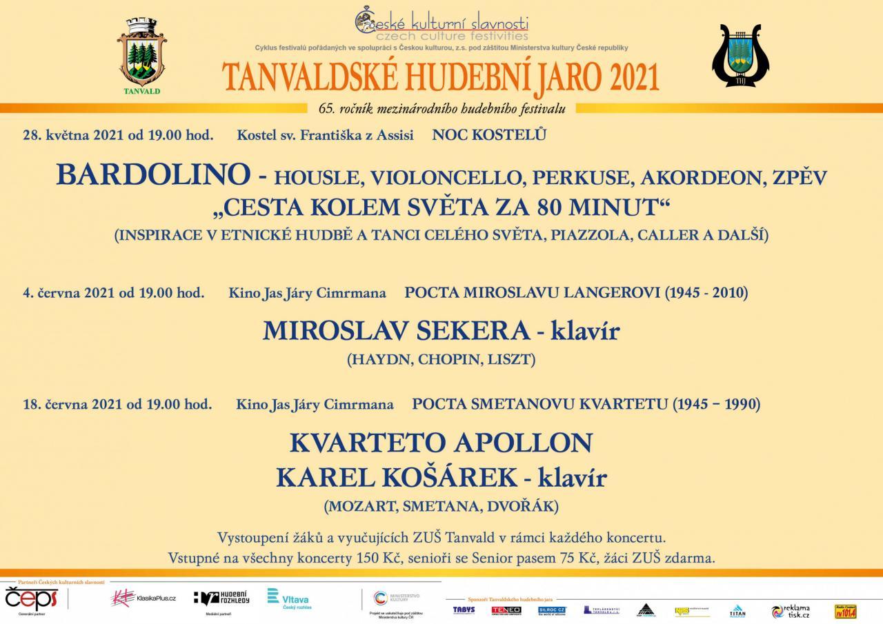 Tanvaldské hudební jaro 2021